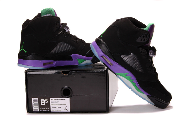 2013 Air Jordan 5 Black Purple Shoes