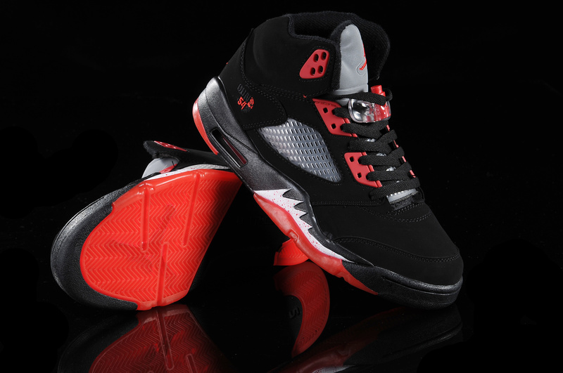 Jordan 5 Retro Black Red White