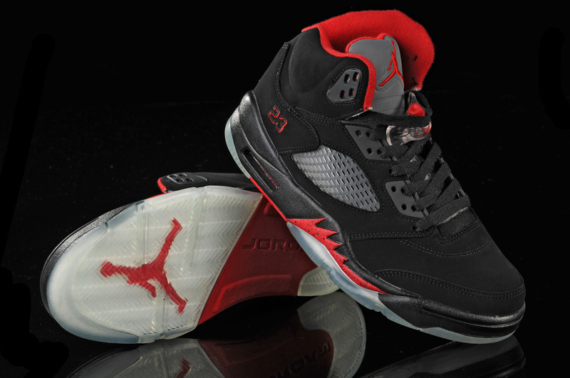 Jordan 5 Retro Black White Red