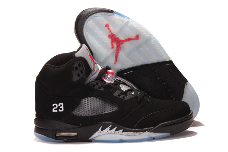 2013 Air Jordan 5 Black White Shoes