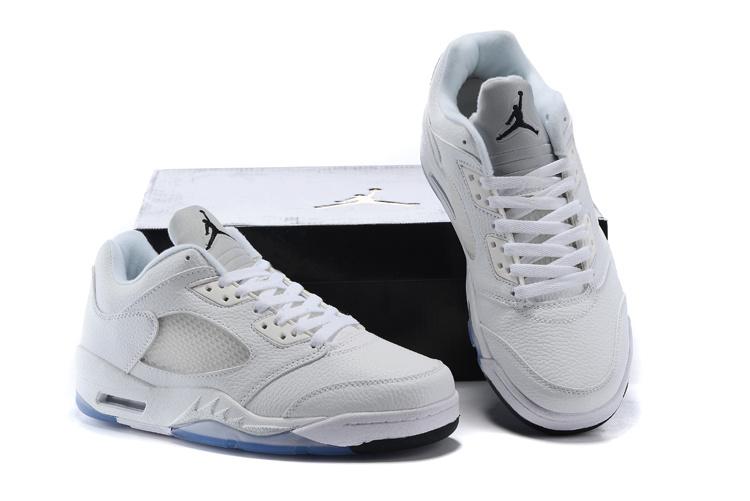 New Air Jordan 5 Low Metalic Silver Shoes