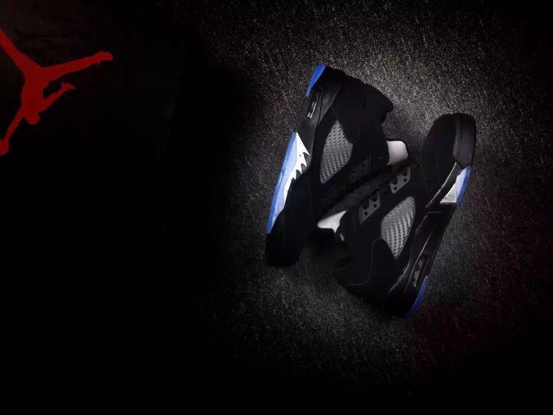 New Air Jordan 5 Low Metallic Black Shoes