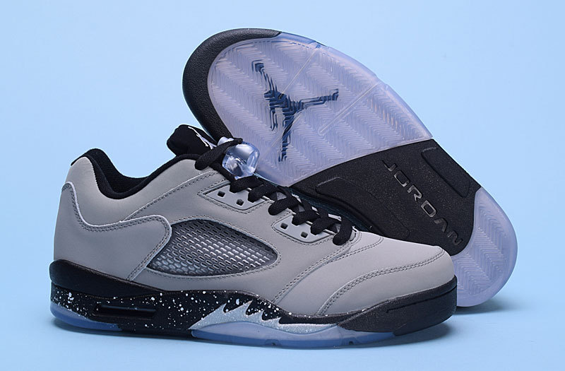 New Air Jordan 5 Low Wolf Grey Black Shoes