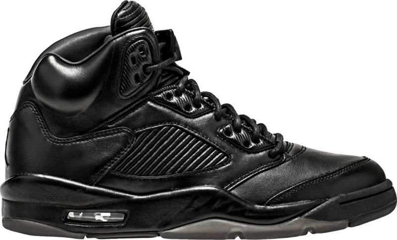 New Air Jordan 5 Retro Joint All Black Shoes