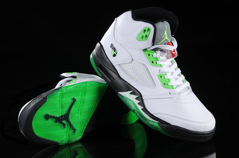 Jordan 5 Retro White Green White