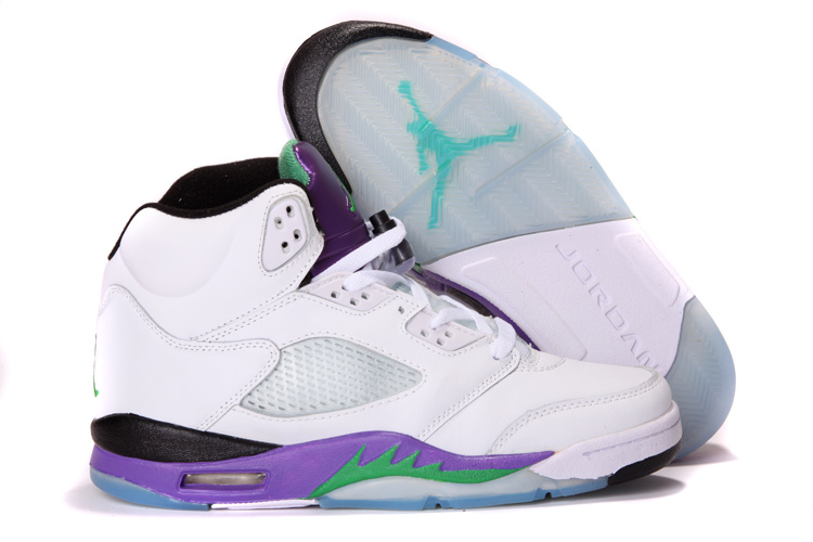2013 Air Jordan 5 White Purple Shoes