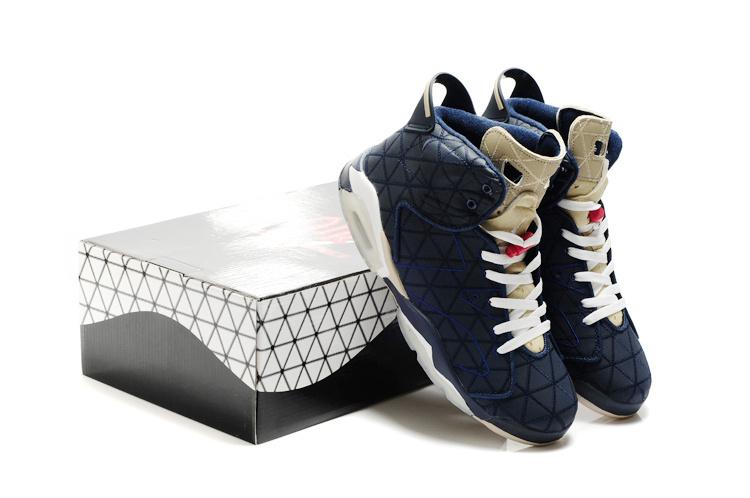 Latest Air Jordan 6 Dark Blue White