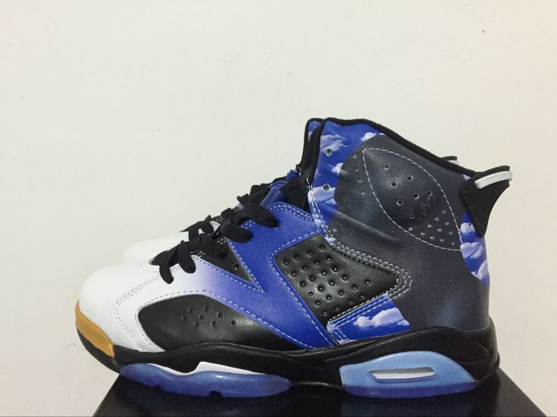 New Air Jordan 6 Dream City Black Blue Shoes