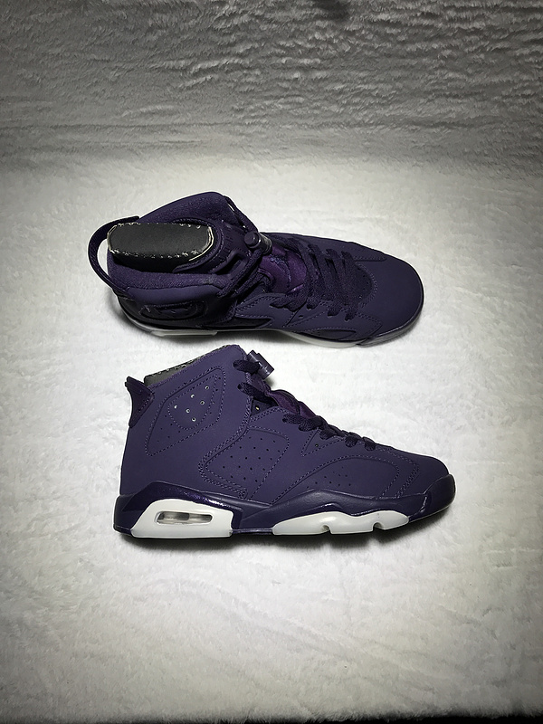 New Air Jordan 6 GS Purple Black Shoes