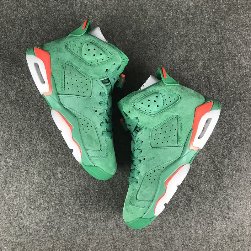 New Air Jordan 6 Gatorade Green Red Shoes