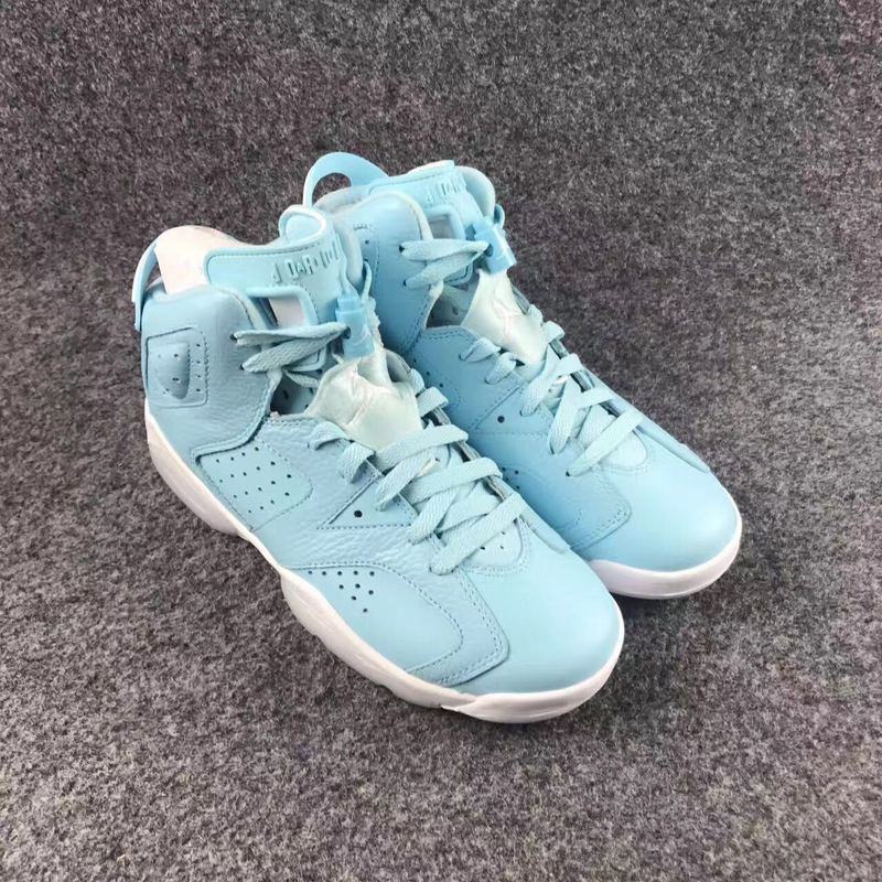 New Women Air Jordan 6 Norht Carolina Blue Shoes