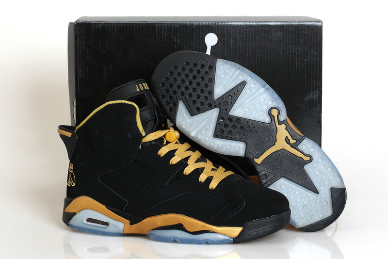 New Air Jordan 6 Retro Black Gold Shoes