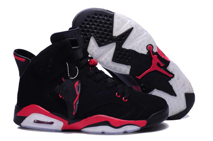 New Air Jordan 6 Retro Black Red Shoes