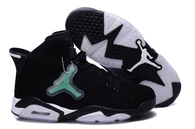 New Air Jordan 6 Retro Black White Shoes