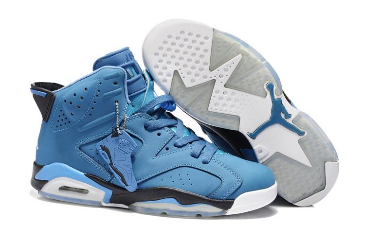 New Air Jordan 6 Retro Blue White Shoes