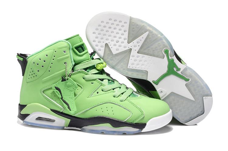New Air Jordan 6 Retro Green White Shoes