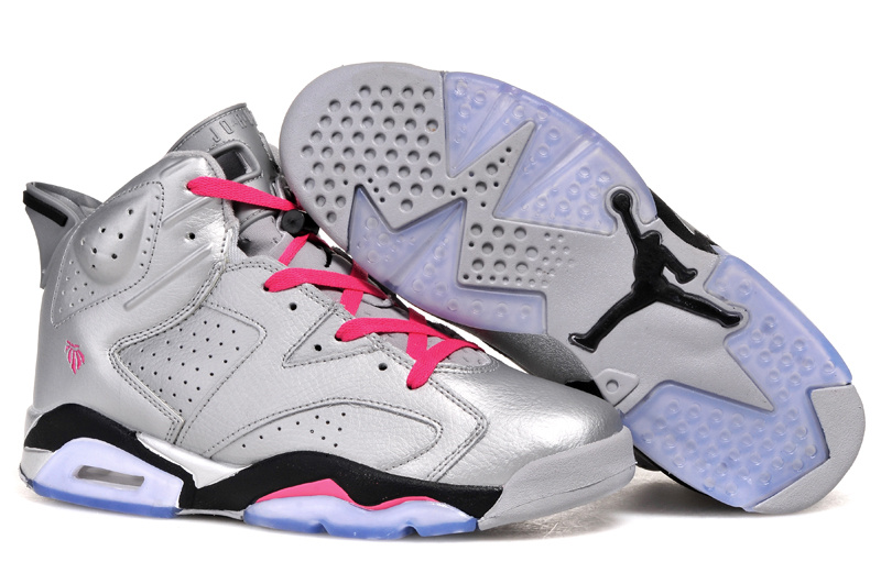 New Air Jordan 6 Retro Silver Pink Shoes