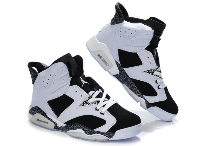 Latest Air Jordan 6 White Black Cement