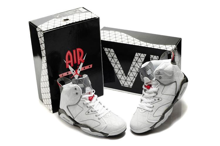 Latest Air Jordan 6 White Grey