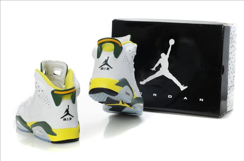 Latest Air Jordan 6 White Yellow Green
