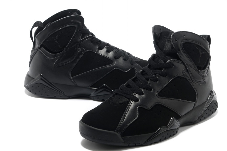 New Air Jordan 7 All Black Shoes