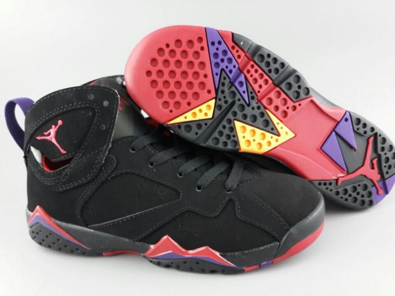 New Air Jordan 7 Black Red Purple For Women