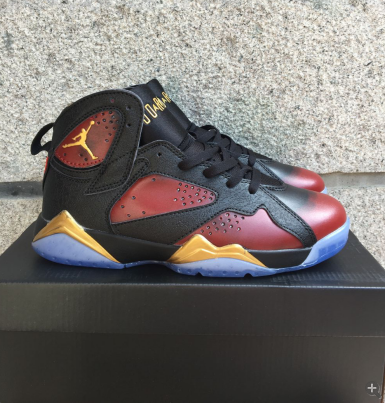 Lowest Price Nike Air Jordan 7 Cheap sale Black University Red P