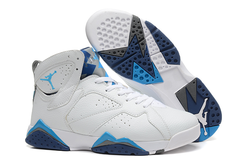 New Air Jordan 7 Retro White Baby Blue Shoes