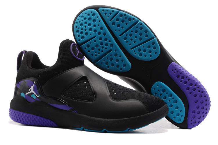 New Air Jordan 8 Black Purple Training Shoes
