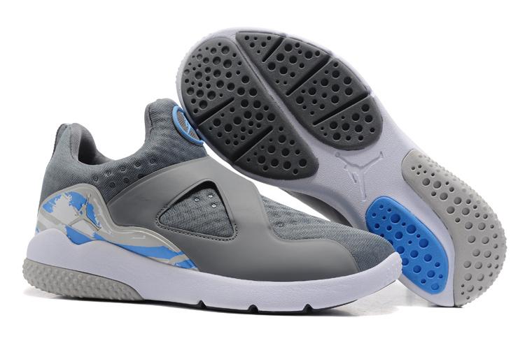 New Air Jordan 8 Grey Blue Training Shoes