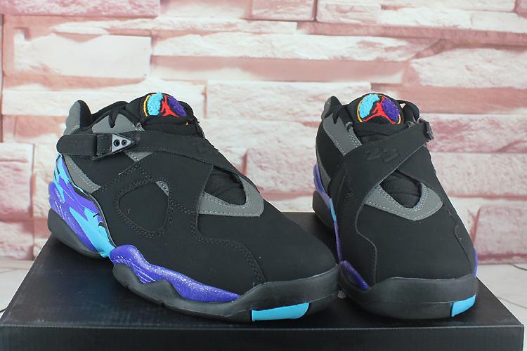 New Air Jordan 8 Low Black Purple Shoes