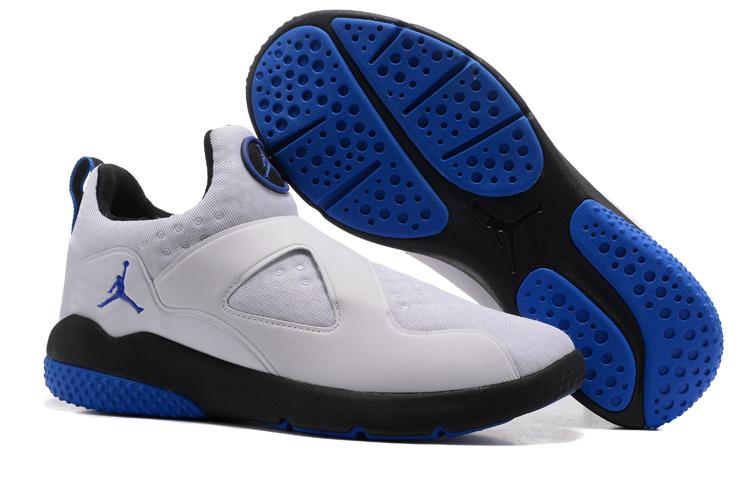 New Air Jordan 8 White Blue Black Training Shoes