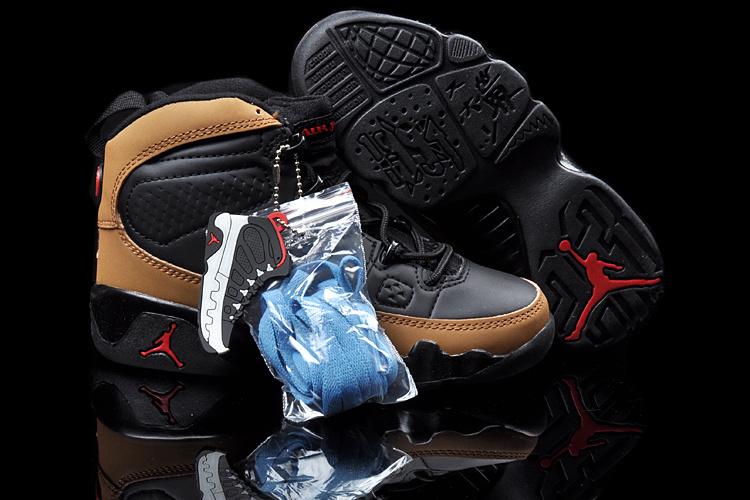 2013 Jordan 9 Black Brown For Kids