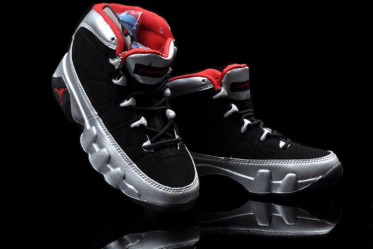 2013 Jordan 9 Black Silver Red For Kids
