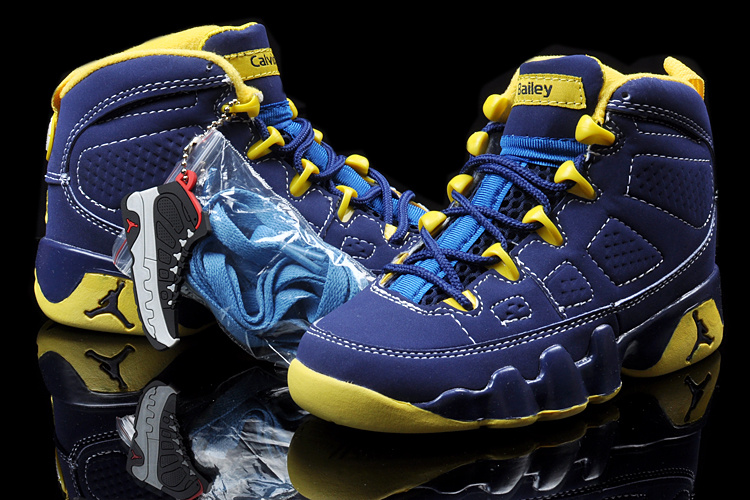 2013 Jordan 9 Blue Yellow For Kids