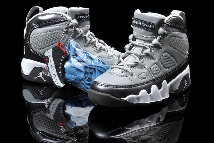 2013 Jordan 9 Grey Black White For Kids