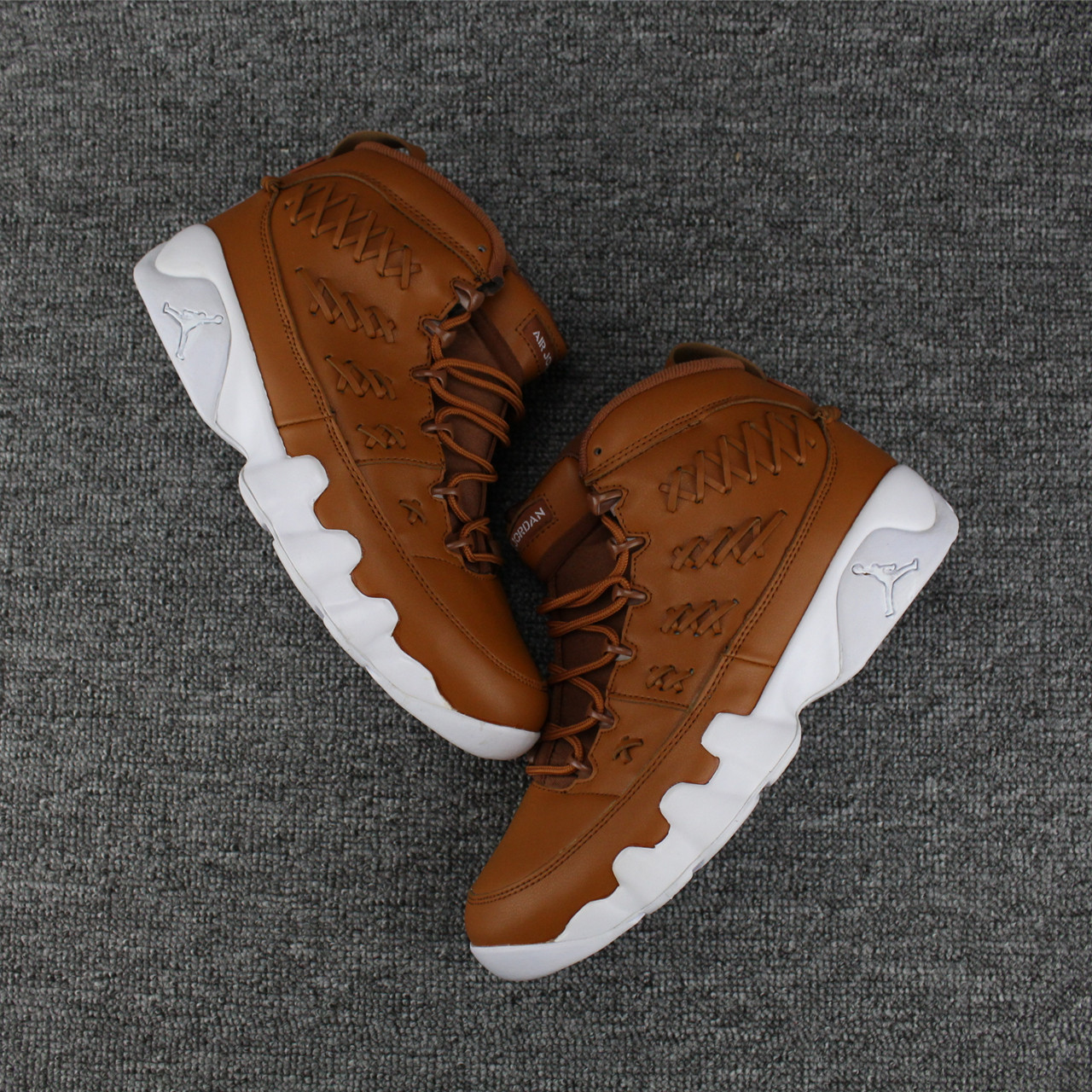 New Air Jordan 9 Knit Wheat Yellow White Shoes