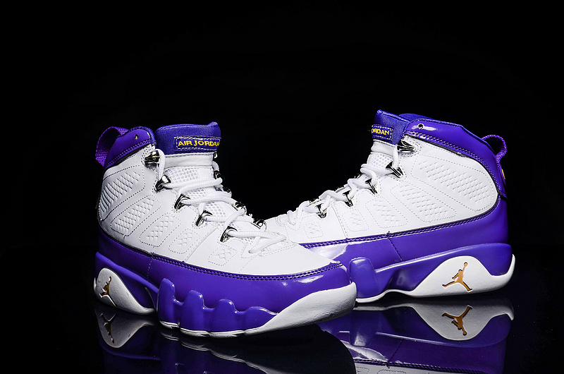 New Air Jordan 9 Retro Purple White Shoes For Women