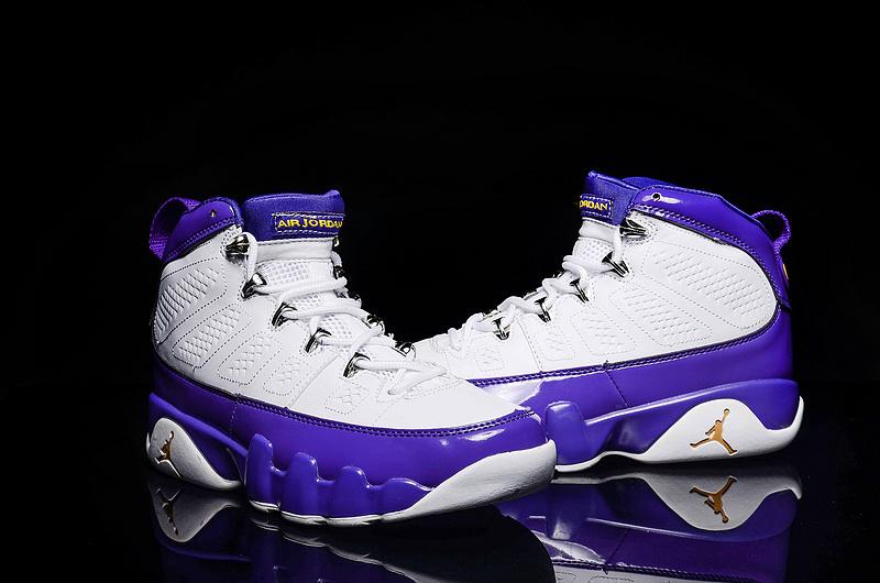 New Air Jordan 9 Retro White Purple Shoes For Women