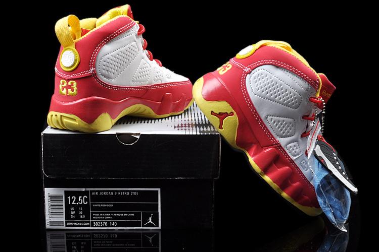 2013 Jordan 9 White Red For Kids