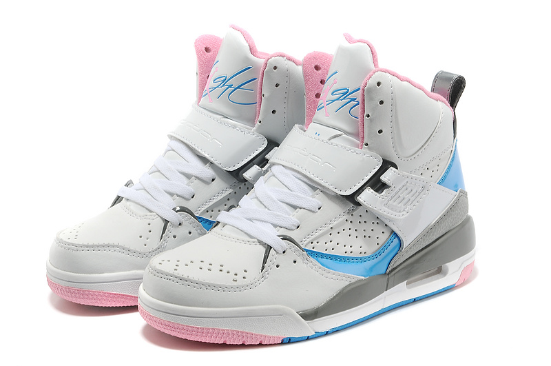 New Air Jordan Flight 4.5 Grey Pink Blue Shoes