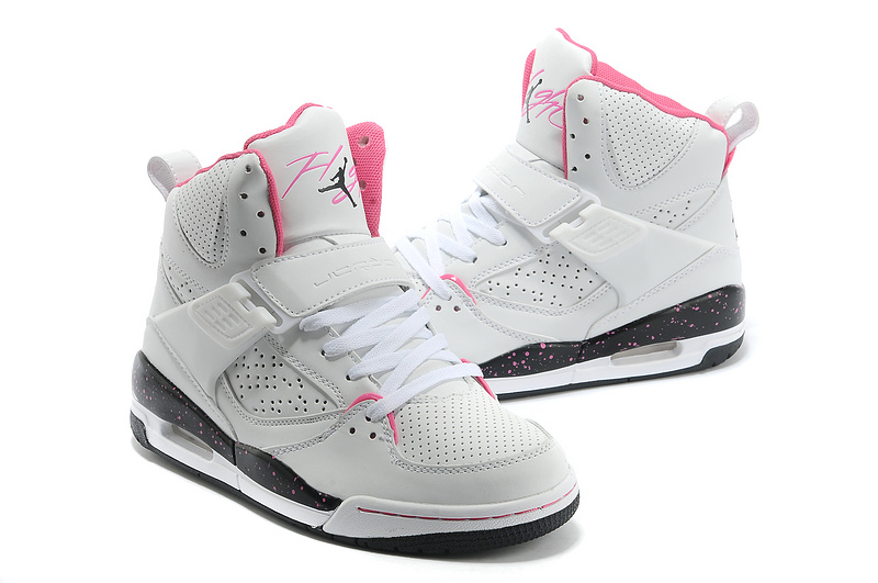 New Air Jordan Flight 4.5 White Pink Black Shoes