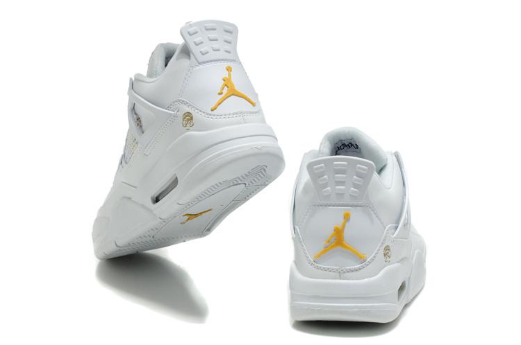 womens air jordan retro 4 white yellow