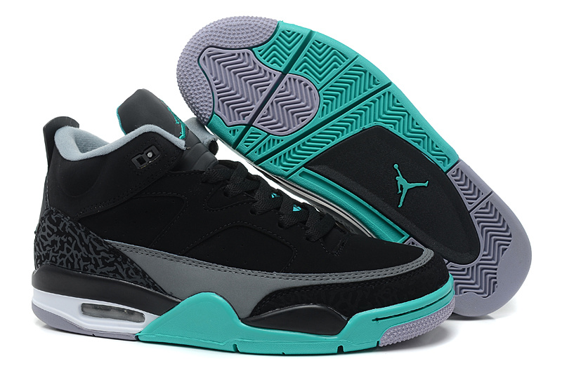 New Arrival Air Jordan Spizike Black Grey Green Shoes