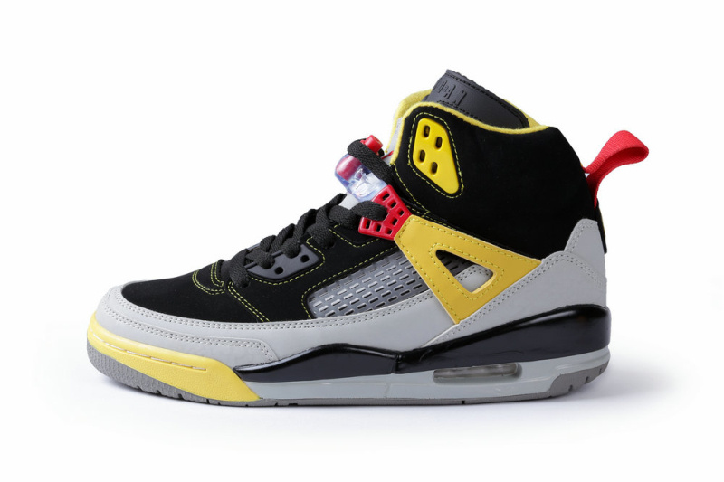 New Air Jordan Spizike Black Grey Yellow Shoes