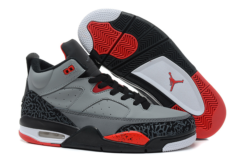 New Arrival Air Jordan Spizike Grey Black Red Shoes