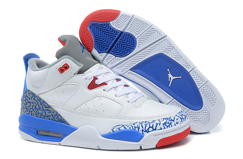 New Arrival Air Jordan Spizike White Blue Red Shoes