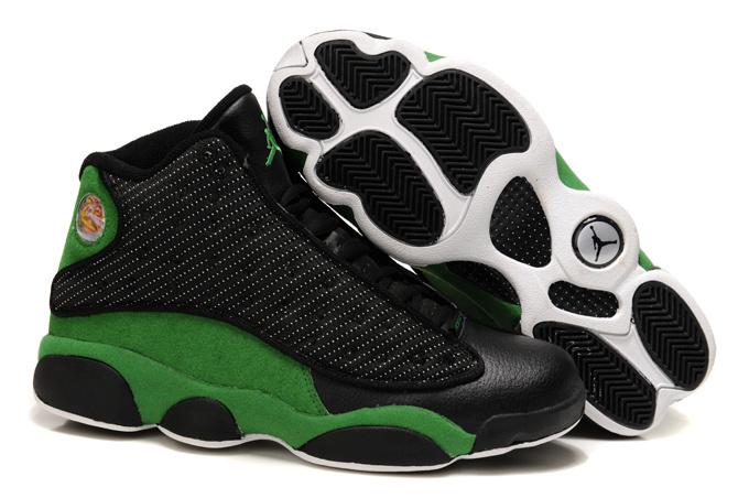 Latest Air jordan 13 Black Green