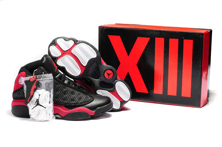 New Ar Jordan 13 Black Red Shoes For Women