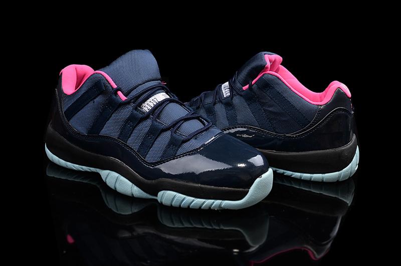 New Jordan 11 Black Pink Shoes